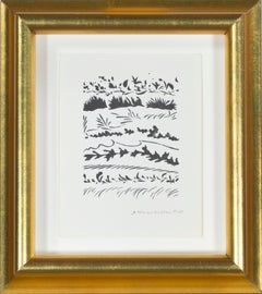 'Winter Silhouettes,' offset lithograph by Schomer Lichtner