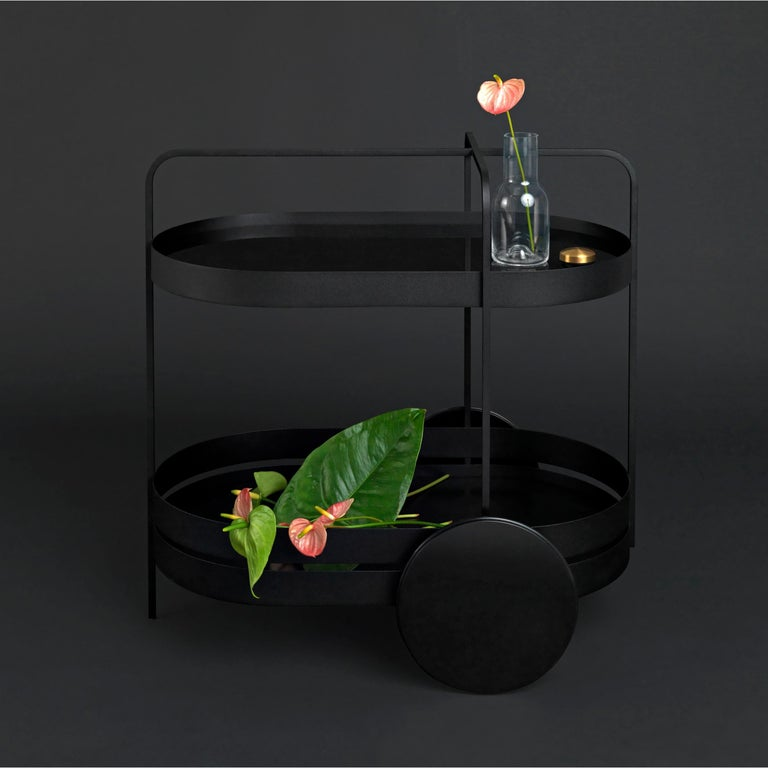 Glass Schonbuch Black Grace Trolley For Sale