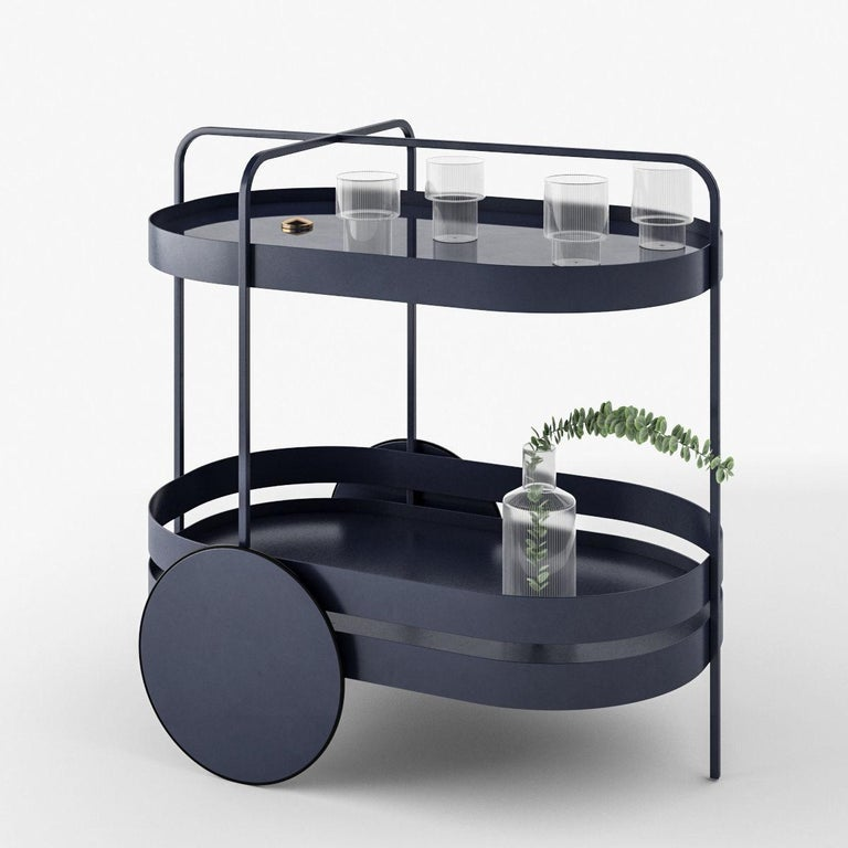 Modern Schonbuch Night Blue Grace Trolley For Sale