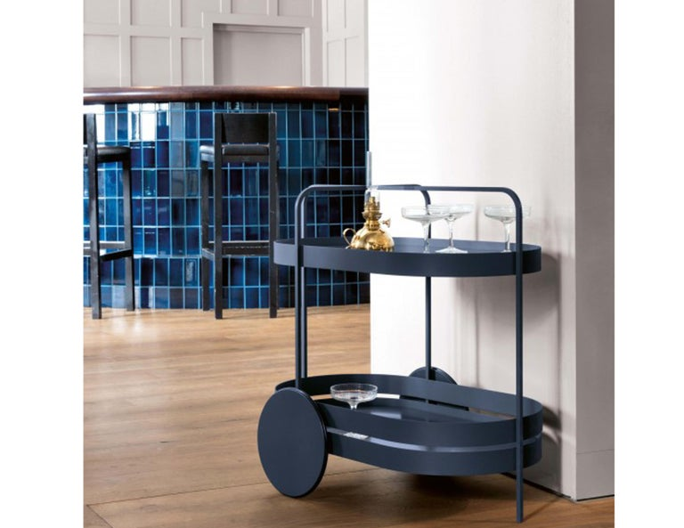 Schonbuch Night Blue Grace Trolley In New Condition For Sale In New York, NY