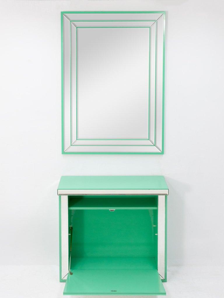 Schöninger Mint Green Console Mirror Hollywood Regency For Sale 6