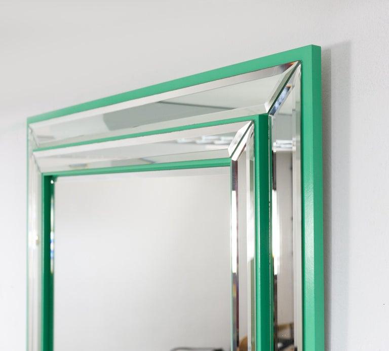 German Schöninger Mint Green Console Mirror Hollywood Regency For Sale