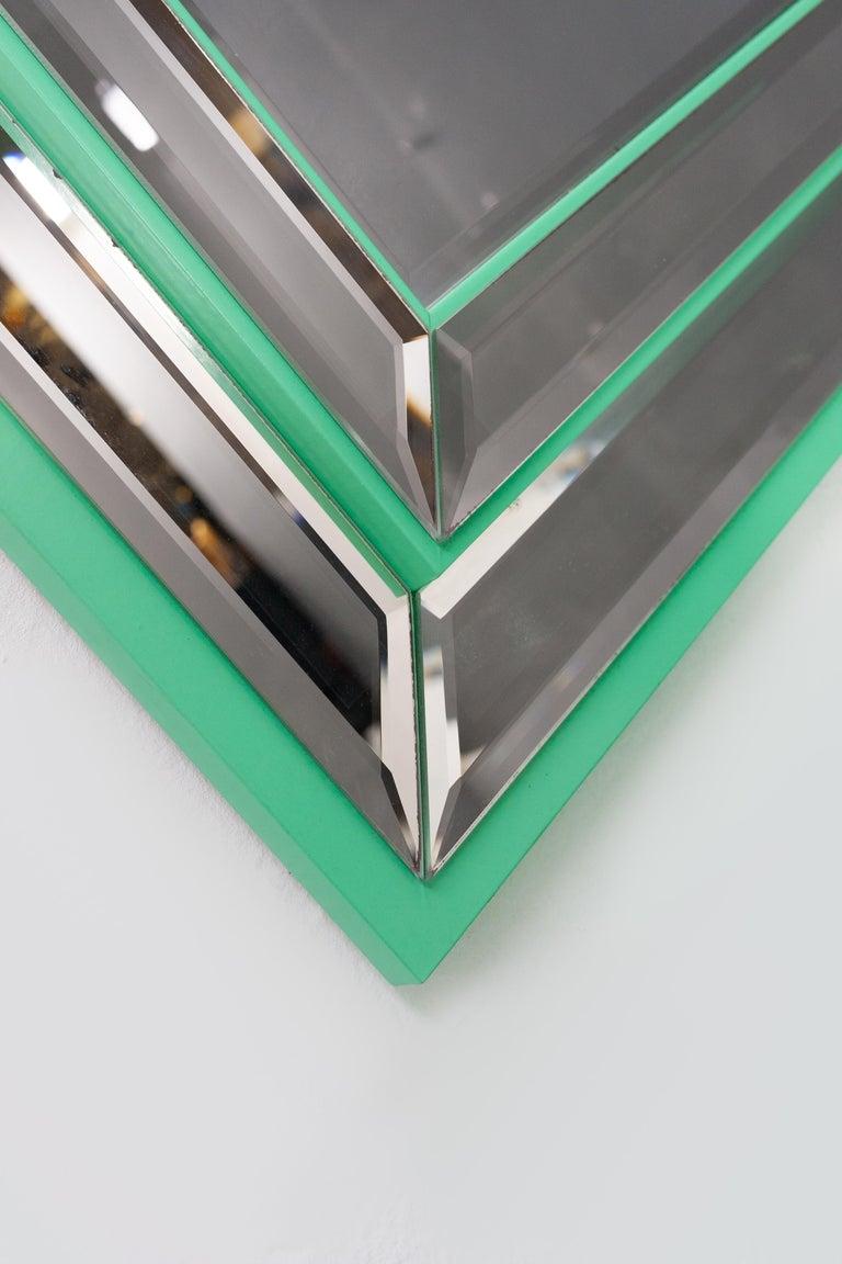 Schöninger Mint Green Console Mirror Hollywood Regency For Sale 1