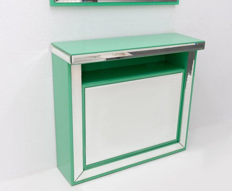 Schöninger Mint Green Console Mirror Hollywood Regency For Sale 2