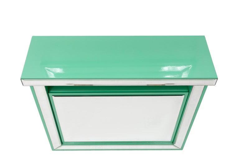 Schöninger Mint Green Console Mirror Hollywood Regency For Sale 3