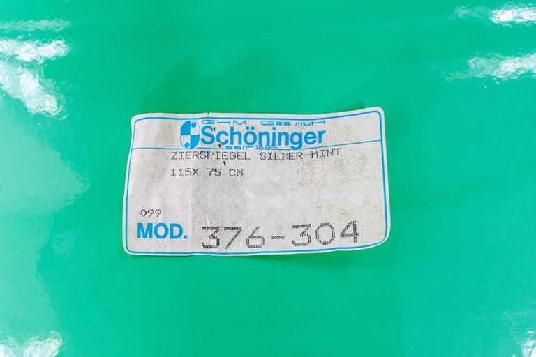 Schöninger Mint Green Console Mirror Hollywood Regency For Sale 4
