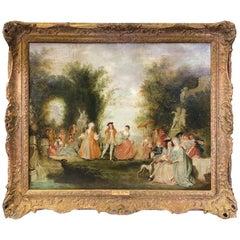 'School of Jean-Antoine Watteau Fête Champêtre dans un Parc' by Unknown
