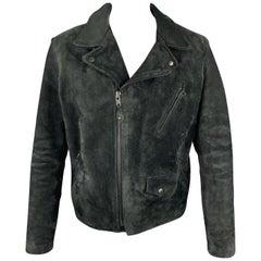 SCHOTT Size XL Black Suede PERFECTO Motorcycle Jacket