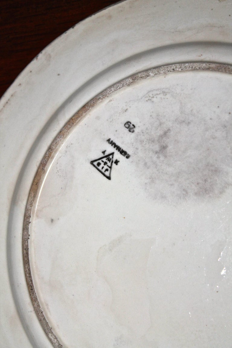 Schramberg Rare Plates Eva Zeisel In Distressed Condition For Sale In Sharon, CT