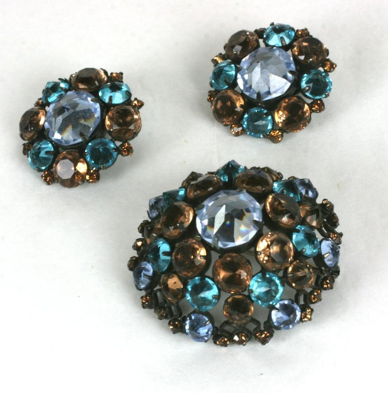 Schreiner Aquamarine and Topaz Set In Excellent Condition For Sale In Riverdale, NY