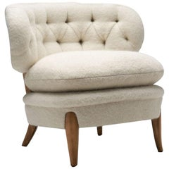 """Schulz"" Lounge Chair by Otto Schulz for Jio Möbler Jönköping, Sweden, 1940s"