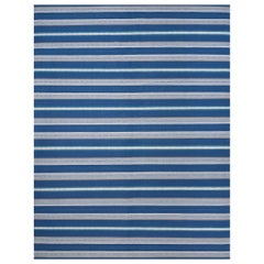 Schumacher Admiral Stripe Area Rug in Handwoven Wool, Patterson Flynn Martin