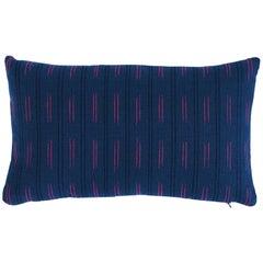 Schumacher Ainsley Stripe Indoor/Outdoor Pillow in Navy