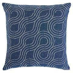 Schumacher Alma Indoor/Outdoor Pillow in Denim