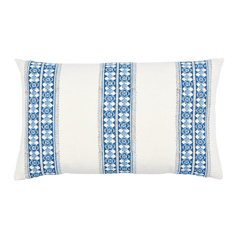 Schumacher Amira Hand Blocked Print Pillow