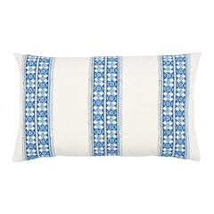 Schumacher Amira Hand Blocked Print Pillow