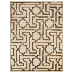 Schumacher Arabesque Maze Area Rug in Wool & Silk by Patterson Flynn Martin