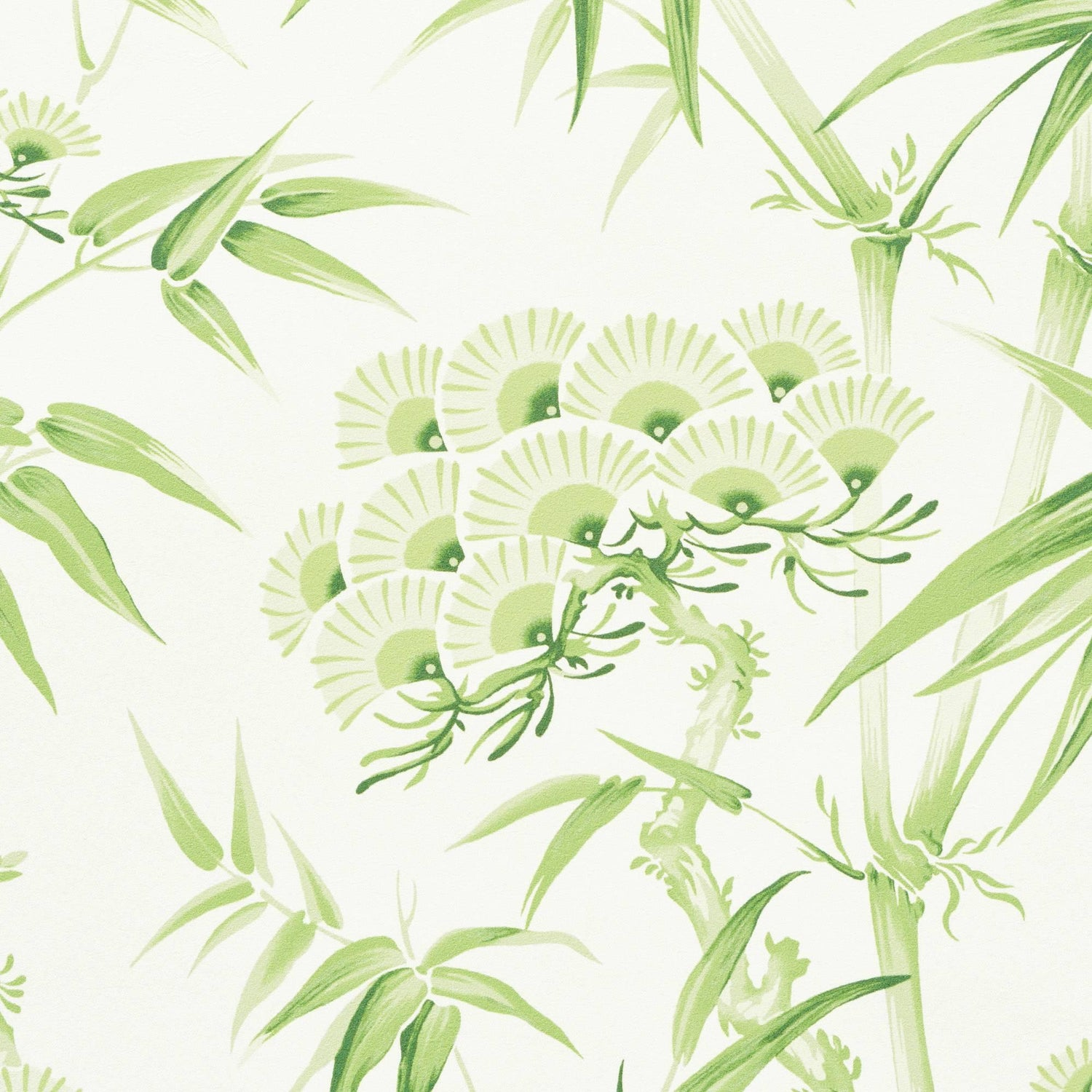 Schumacher Arita Floral Botanical Leaf Green Wallpaper, Two Roll Set ...