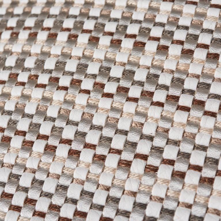 Modern Schumacher Arlo Grey Shimmer Linen Pillow For Sale