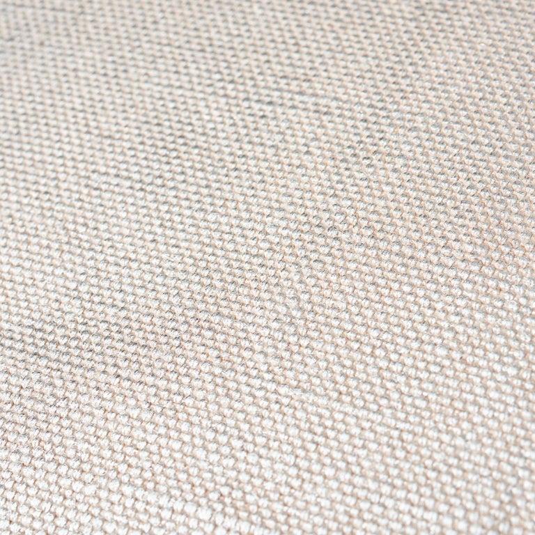 Turkish Schumacher Arlo Grey Shimmer Linen Pillow For Sale