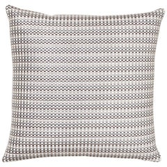 Schumacher Arlo Grey Shimmer Linen Pillow