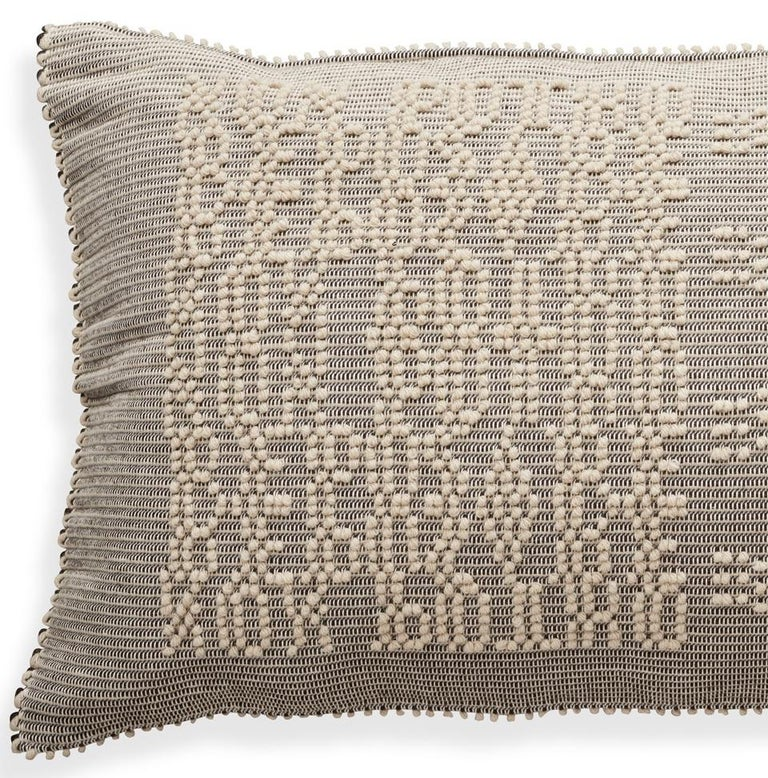 These custom pillows in our Artigianale collection are a marriage of old world craftsmanship and modern design sensibility. Handwoven and crafted in Italy using traditional weaving techniques, these Sardinian pillows are a study in texture that
