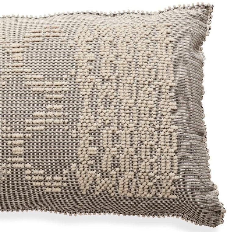 Modern Schumacher Artigianale Italian Handwoven Natural Oversized Floor Pillow For Sale