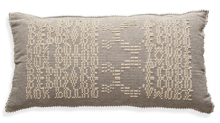Schumacher Artigianale Italian Handwoven Natural Oversized Floor Pillow In New Condition For Sale In New York, NY