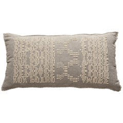 Schumacher Artigianale Italian Handwoven Natural Oversized Floor Pillow