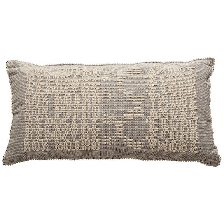 Schumacher Artigianale Italian Handwoven Natural Oversized Floor Pillow For Sale