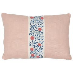 Schumacher Ashoka Tape and Piet Performance Linen Lumbar Pillow