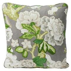 """Schumacher Bermuda Blossoms 18"""" Pillow"""