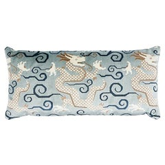 "Schumacher Bixi Velvet 30"" x 14"" Pillow in Celestine"