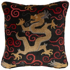 Schumacher Bixi Velvet Onyx Two-Sided Pillow