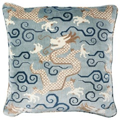Schumacher Bixi Velvet Pillow in Celestine