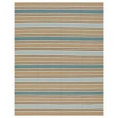 Schumacher Bosun Stripe Area Rug in Hand-Woven Wool by Patterson Flynn Martin