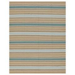 Schumacher Bosun Stripe Bereich Teppich in handgewebte Wolle von Patterson Flynn Martin