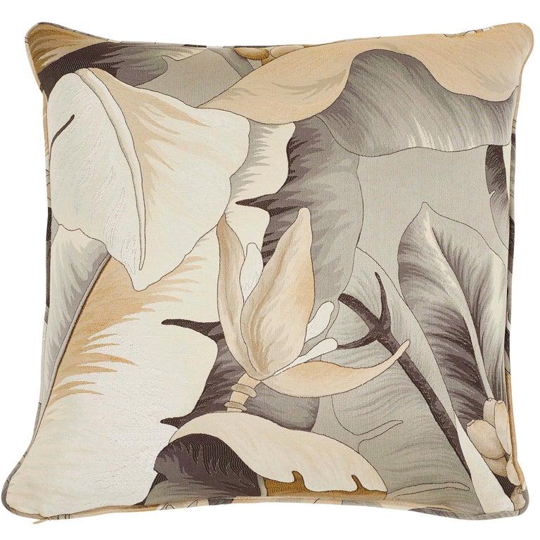 Schumacher Botanico Bronze Two-Sided Pillow For Sale