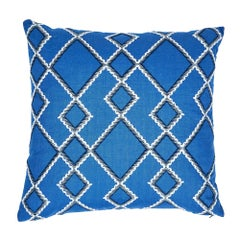 """Schumacher Branson Embroidery 20"""" Pillow"""