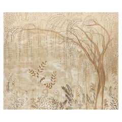 Schumacher by Colette Cosentino Bisou Wallpaper Mural in Gold