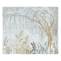 Schumacher by Colette Cosentino Bisou Wallpaper Mural in Mineral