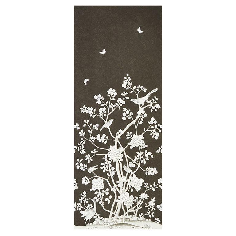 Schumacher by Mary McDonald Chinois Palais Vinyl Wallpaper Panel in Noir