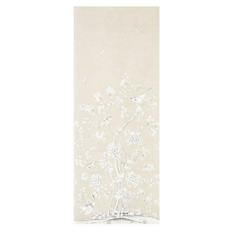 Schumacher by Mary McDonald Chinois Palais Vinyl Wallpaper Panel in Stone