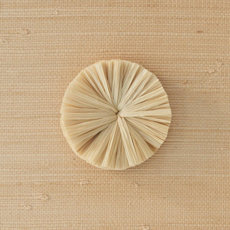 Schumacher Caicos Small Raffia Wall Decoration in Natural, Ten Piece Set For Sale 4