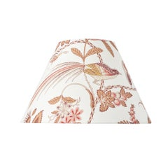 Schumacher Campagne Rose and Ochre Linen Lampshade