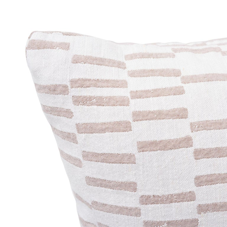 Schumacher Caroline Hurley Cedar Tree Neck Clay Two-Sided Cotton Linen Pillow In New Condition For Sale In New York, NY
