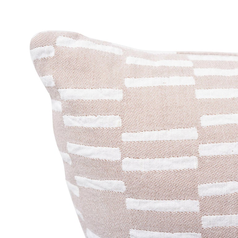 Schumacher Caroline Hurley Cedar Tree Neck Clay Two-Sided Cotton Linen Pillow For Sale 1