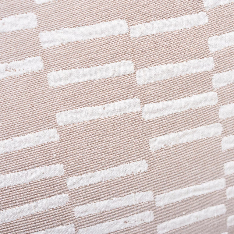 Schumacher Caroline Hurley Cedar Tree Neck Clay Two-Sided Cotton Linen Pillow For Sale 2