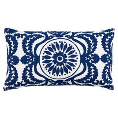 Schumacher Castanet Embroidery Pillow
