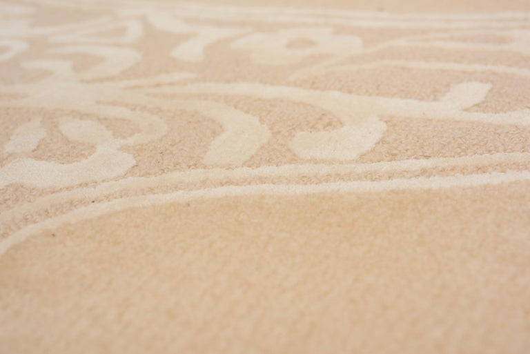 Hand-Crafted Schumacher Chantilly Lace Area Rug in Wool and Spun Silk, Patterson Flynn Martin For Sale